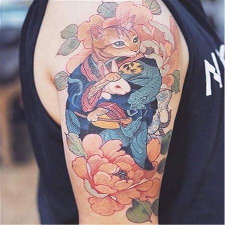 BARBEDINGROSE Etiqueta Engomada Temporal Impermeable del Tatuaje ...
