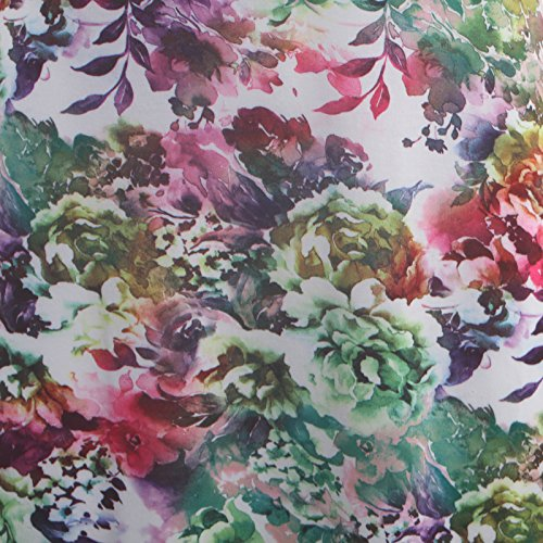 Femmes Manches 54 36 floral Leaf longue Robe Green vase 4 3 ZZwxar