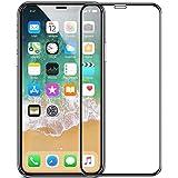 iPhone X ガラスフィルム,PUDOON 2018改良版 iPhoneX 用 強化ガラス液晶保護フィルム 極薄0.25mm 9H高硬度 気泡防止 透過率99.9% 油分 汚れ防止 撥水加工 5D Touch対応 (HD)