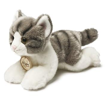 Miyoni Gato Tabby de peluche, 28 cm, color gris y blanco (Aurora World