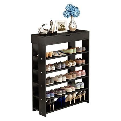 How To Make A Shoe Rack.Soges 5 Tier Shoe Rack 29 5 Inches Wooden Shoe Storage Shelf Shoe Organizer Black L24 Xbk