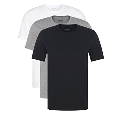 f6fc477e9e98e Hugo Boss - Lot de 3 T-shirts à col rond, couleur noir