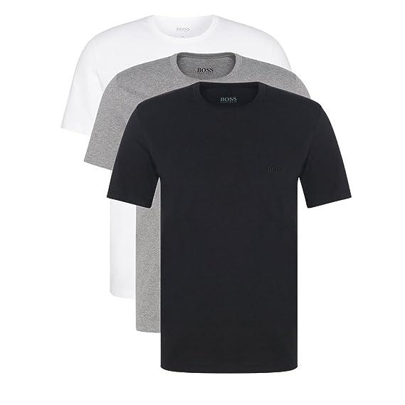 e6b41486e Hugo Boss Men's 3-Pack O Neck XXL 999 Round Neck Cuttting T-Shirt White:  Amazon.co.uk: Clothing