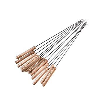 Amazon.com: Marshmallow Roasting Sticks brochetas de acero ...