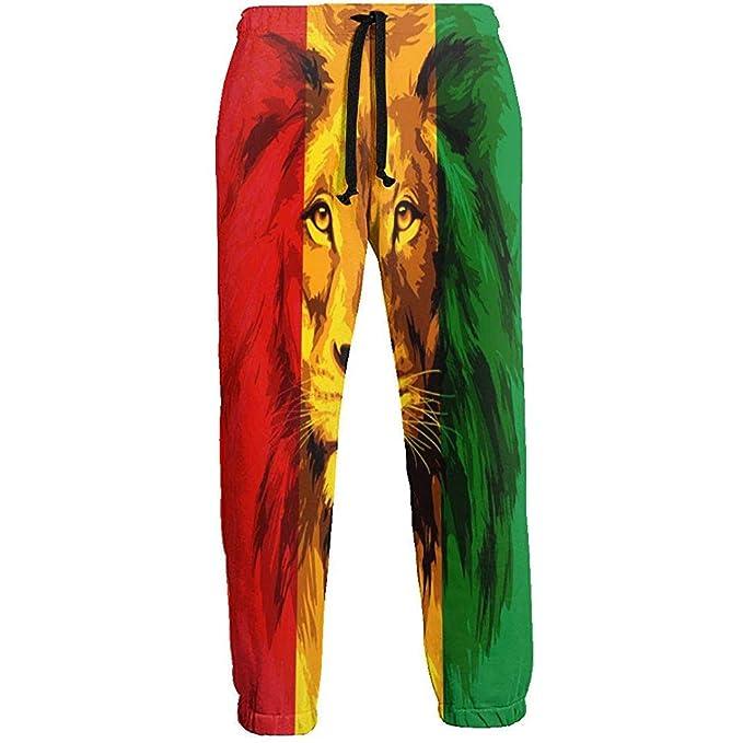 Emild Pantalones de chándal para Hombre Reggae Rasta Flag Lion ...
