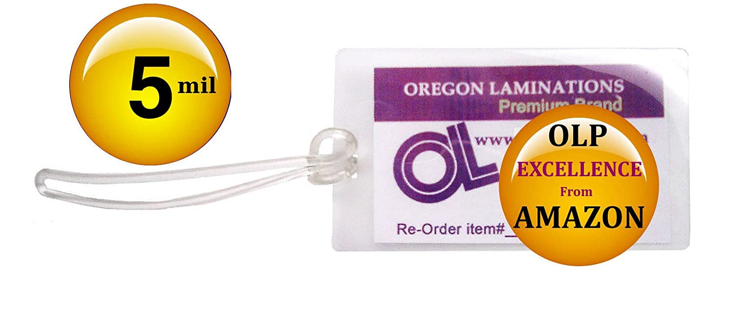 5 Mil Luggage Tag Laminating Pouches Plastic Loops 2 1 X 4 Pk Low
