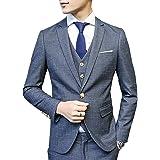 CEEN スリーピース オシャレ メンズ ジャケット スラックス ベスト カジュアル スタイリッシュスーツ 1つボタン ビジネス・パーティー フォーマル 春秋