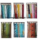 Mango Gifts India Old Sari Multicolor Curtain Door Drape 6 Pieces Lot (Assorted)