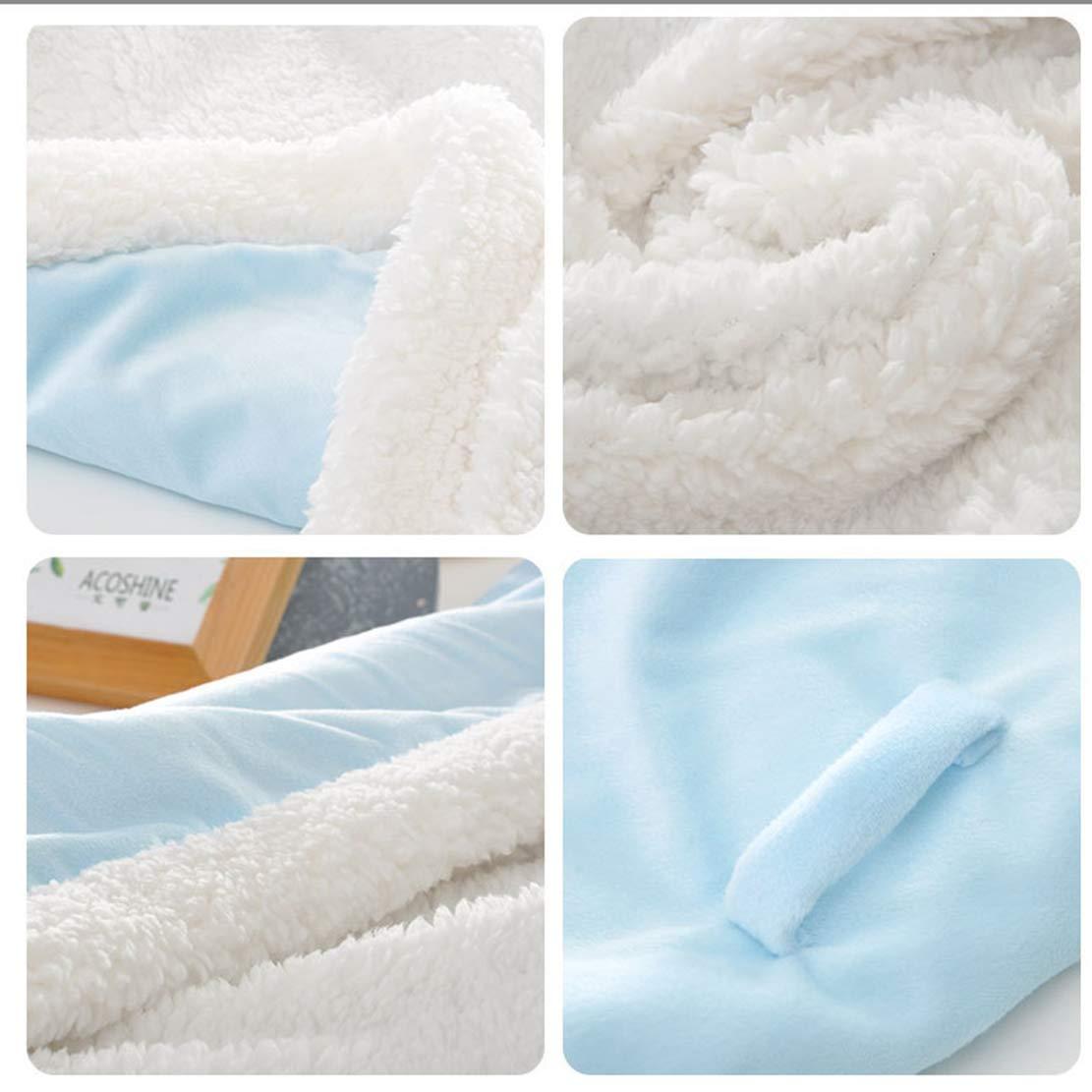 Couverture dEmmaillotage pour B/éb/é Gigoteuse Cosy Chaude Sac de Couchage /À capuche Enveloppante Hiver pour Poussette Nouveau n/é 0-6 Mois 80 80cm