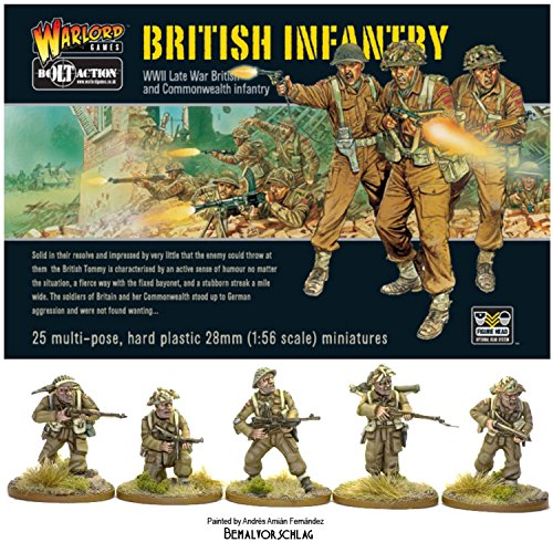 Bolt Action Late War British & Commonwealth Infantry 1:56 WWII Military Wargaming Plastic Model - Infantry Weapons British