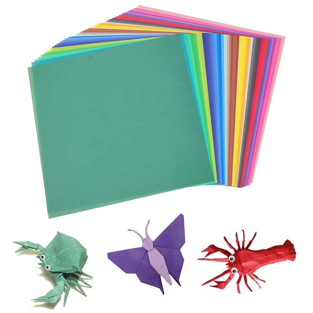 per progetti artistici e creativi Carta per origami Jingxu,/200/fogli di carta colorati per artigianato fai-da-te 100 occhi che si muovono 15 x 15cm colorful 15,2/x 15,2/cm