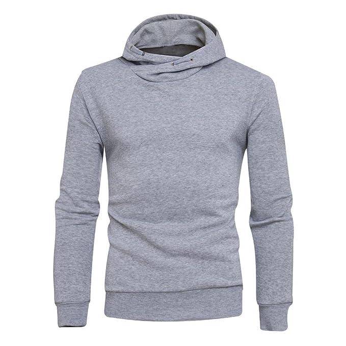 Landfox Sudadera con capucha de invierno sólido sudadera con capucha para hombre sudadera con capucha (