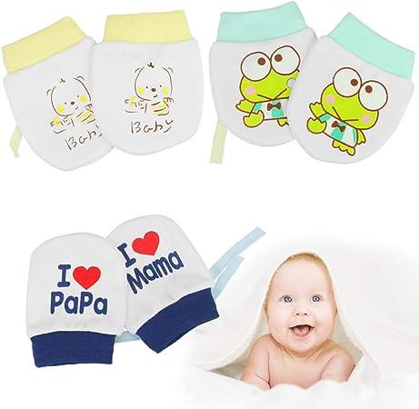 Gelb Neugeborenes Anti-Kratz Handschuhe Anti scratch Rosa Blau Fäustlinge Baby