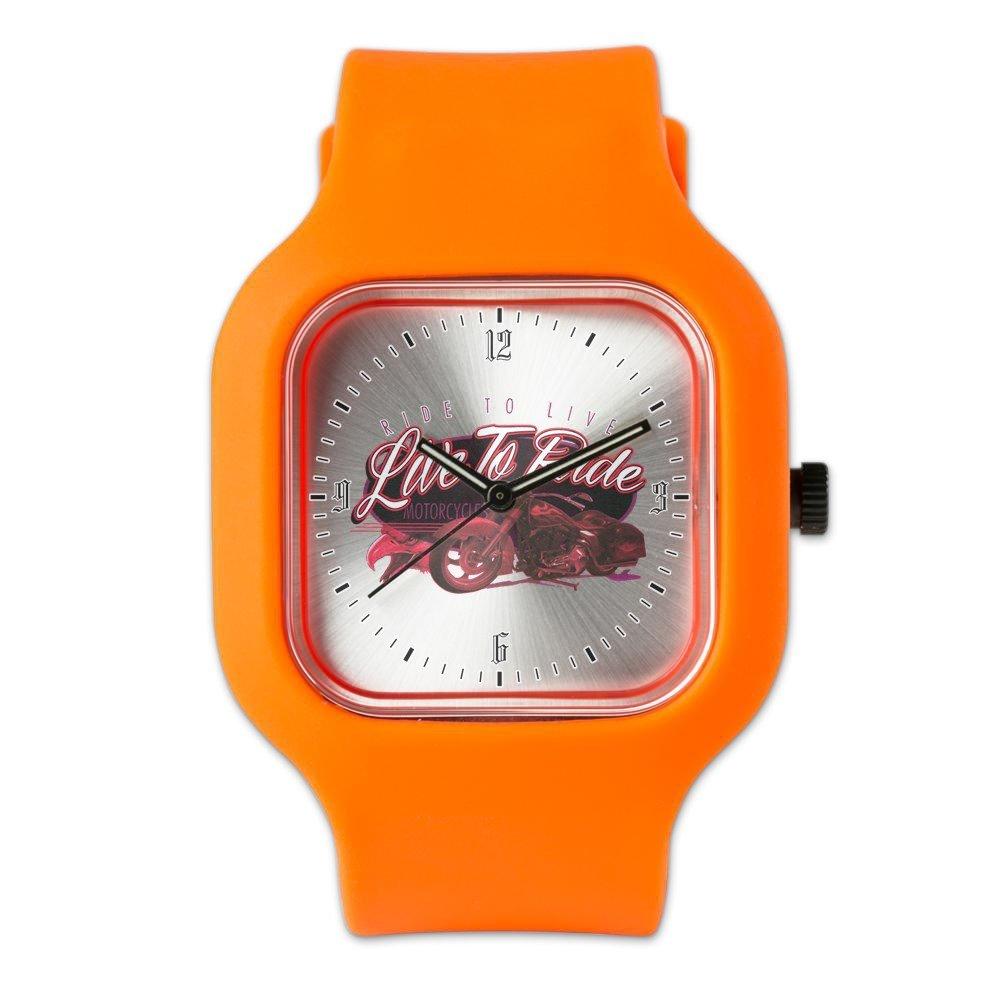 Orange Fashion Sport Watch Live to Ride Ride to Live Hogs Bikes