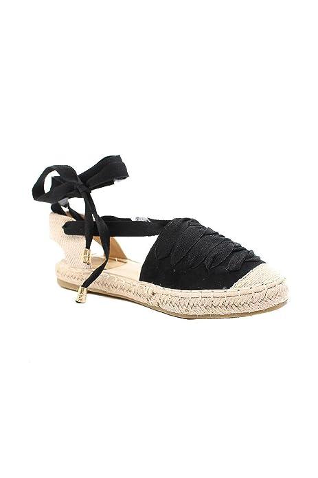 SHLEP Alpargata Esparto Negra de Mujer Dama DCE Moda: Amazon.es: Zapatos y complementos