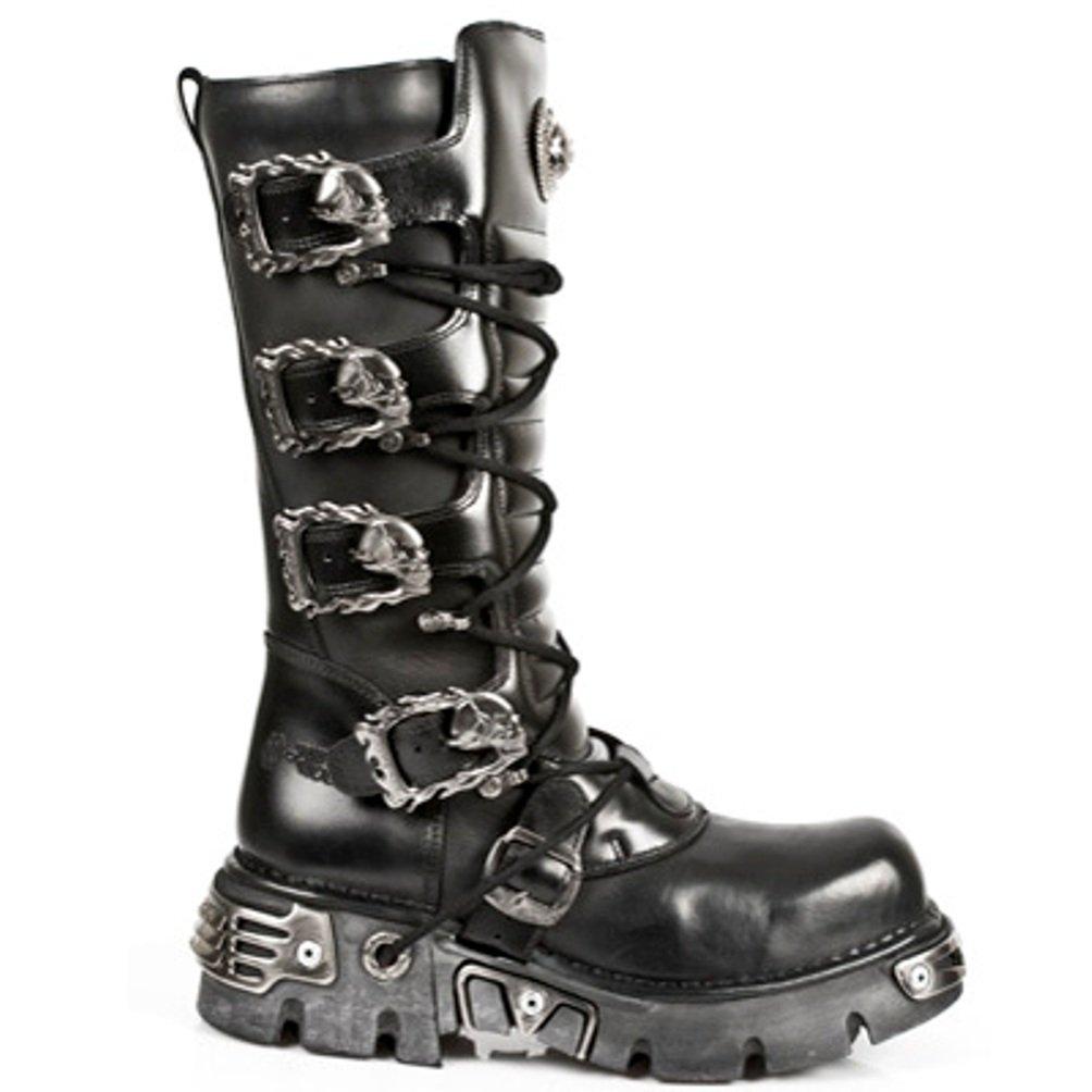 New Rock Newrock Stiefel Style M.402 S1 Schwarz Schwarz Schwarz Unisex Reactor 622256