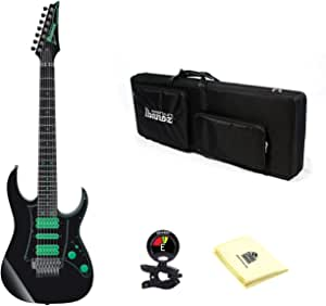 Ibanez UV70P Premium Steve Vai Universe 7-String Electric Guitar in Black (Soft case included) With Snark SN5X Clip-On Tuner for Guitar, Bass & Violin And Custom Designed Instrument Cloth