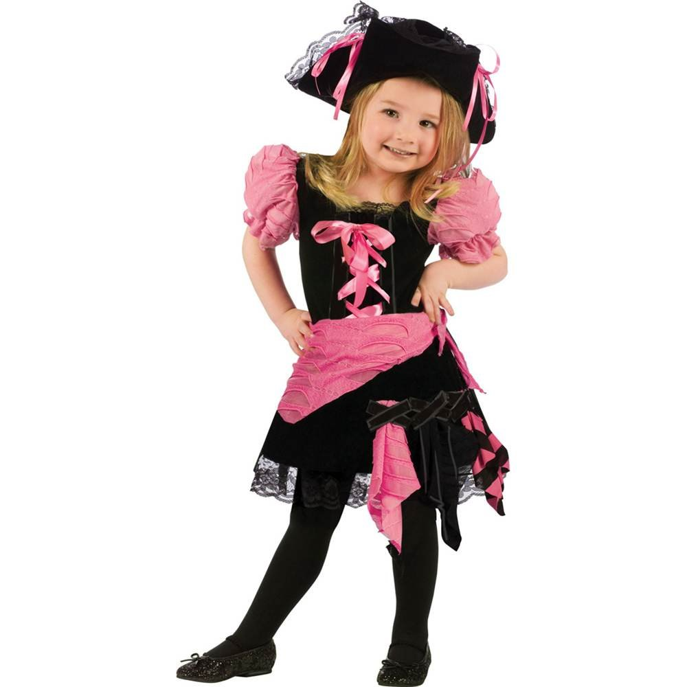 4eafbf3d80566 Little Girls' Pink Punk Pirate Costume