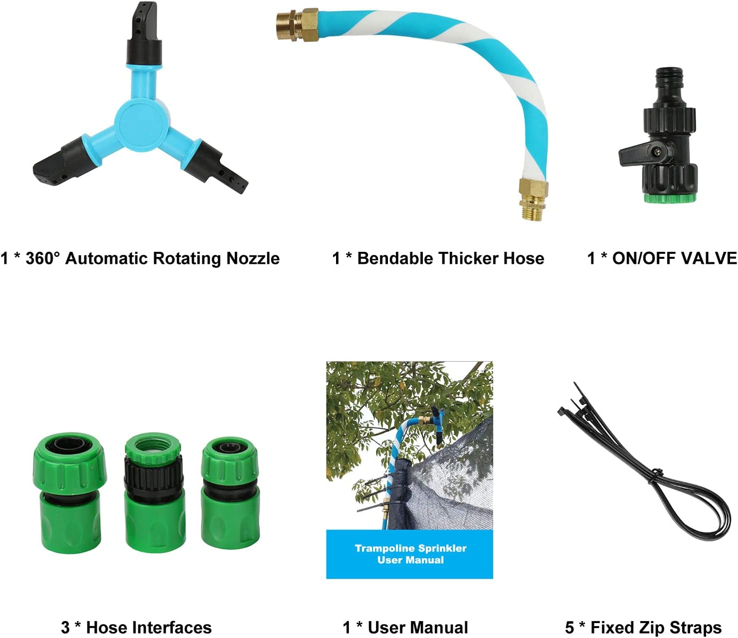Blue Outdoor Water Park Game Trampoline Accessories Trampoline ...