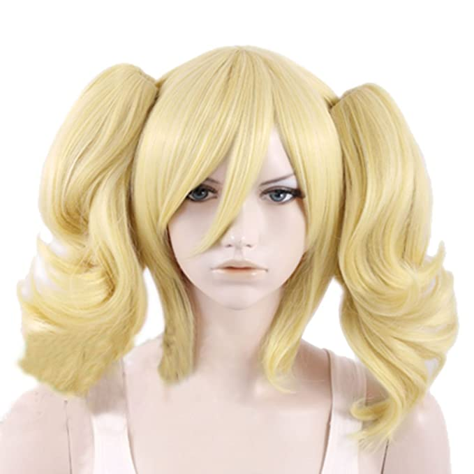 COSLIVE Batman Harley Quinn Golden Yellow Wig Lolita Hair Halloween