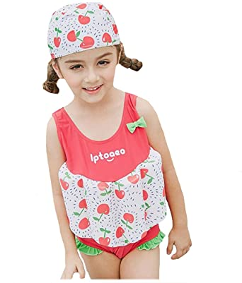 2789b30737 LIKEOUT Kids One-Piece Floating Swimming Suit With Swim Cap Boys Girls New  Swimming Sc 1 St Amazon.com