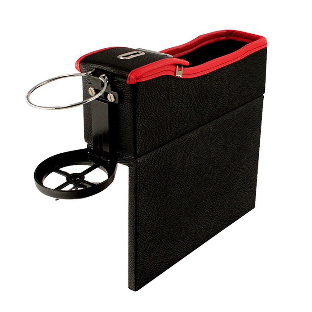 Alextry 964/5000 Auto Konsolensitz Aufbewahrungskiste, Moneta Laterale Flaschenhalter Auto Organizer für Getränkehalter Left rot