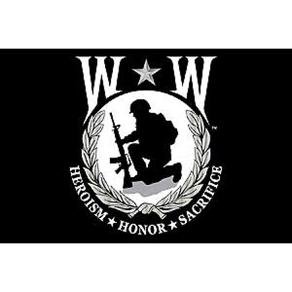 EagleEmblems F8886 Flag-Wounded Warrior 12in x 18in