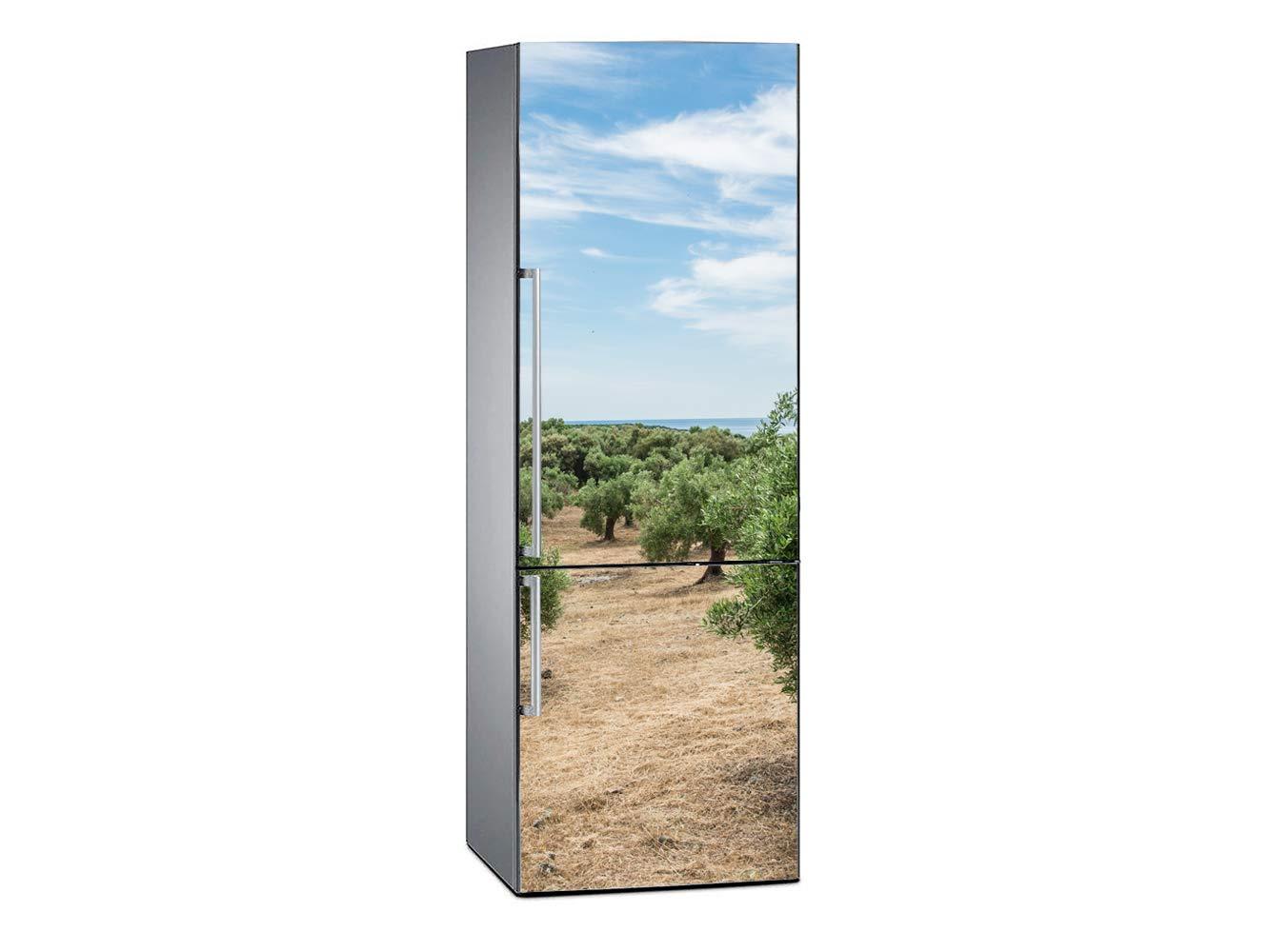 Pegatina Adhesiva Decorativa de Dise/ño Elegante Vinilo para Frigor/ífico Mar de Olivos 185x60cm Adhesivo Resistente y Econ/ómico