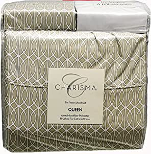 Amazon.com: Charisma Microfiber 6-Pc Queen Sheet Set