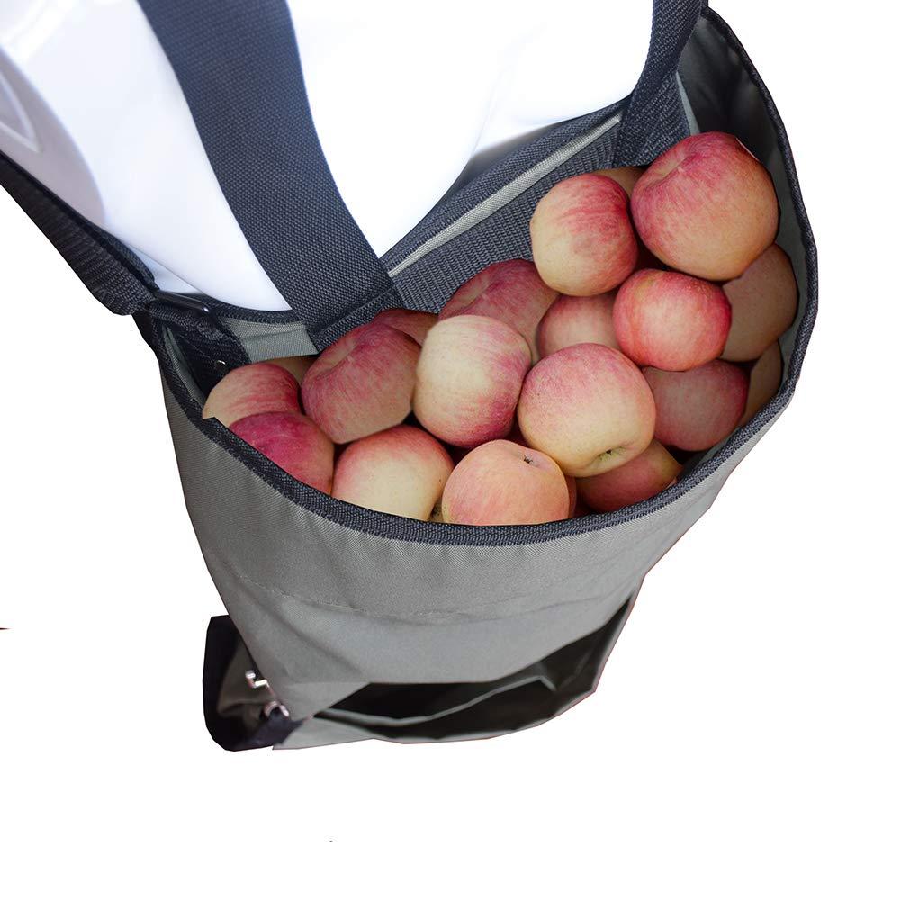 Yunhigh Delantal de jardín con Bolsa de recolección de Fruta Profunda de Gran Bolsillo Profundo Bolsa de recolección de Fruta Resistente Impermeable ...