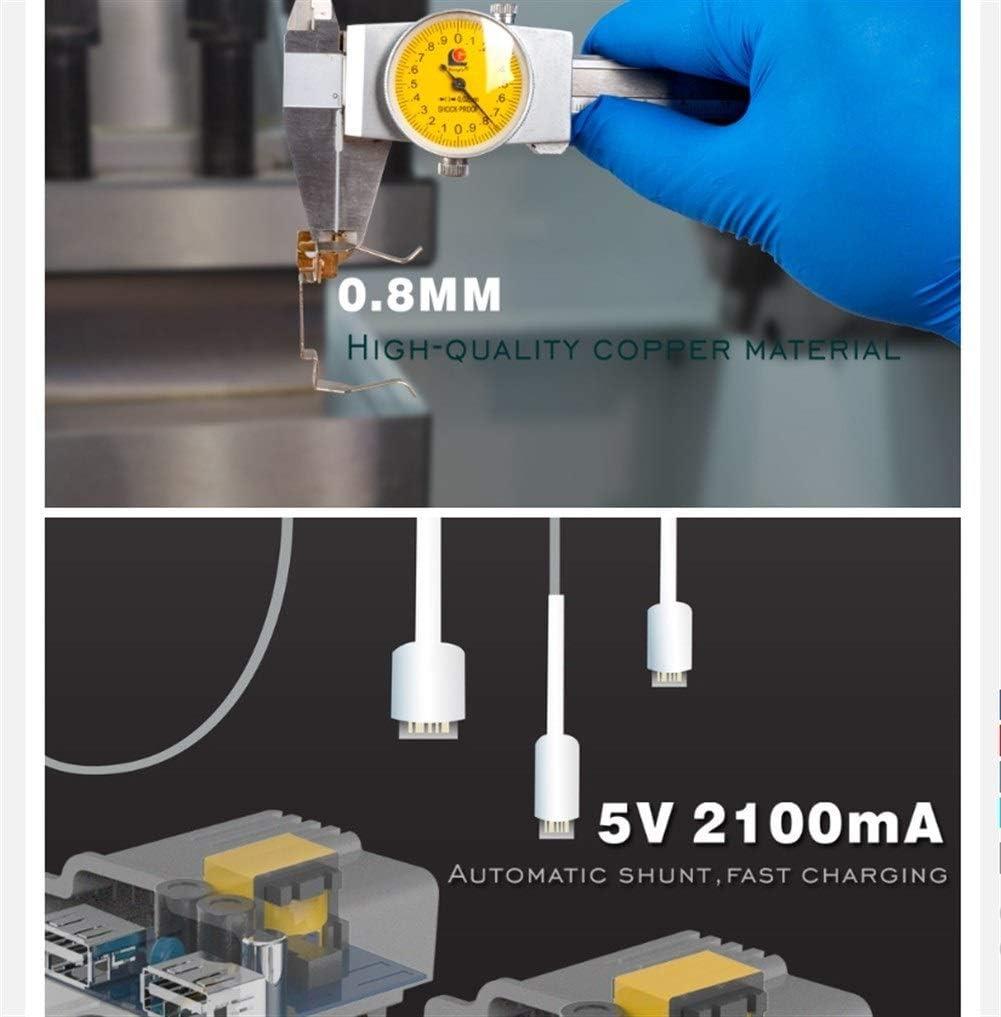 HAIYOUSHANGMAO Adaptador De Cargador De Pared Blanca Puerto Cristal Cristal 2A USB De Doble Z/ócalo De Carga con El Adaptador De Pared USB Enchufe Rated Voltage : 110 250V, Type : Gold