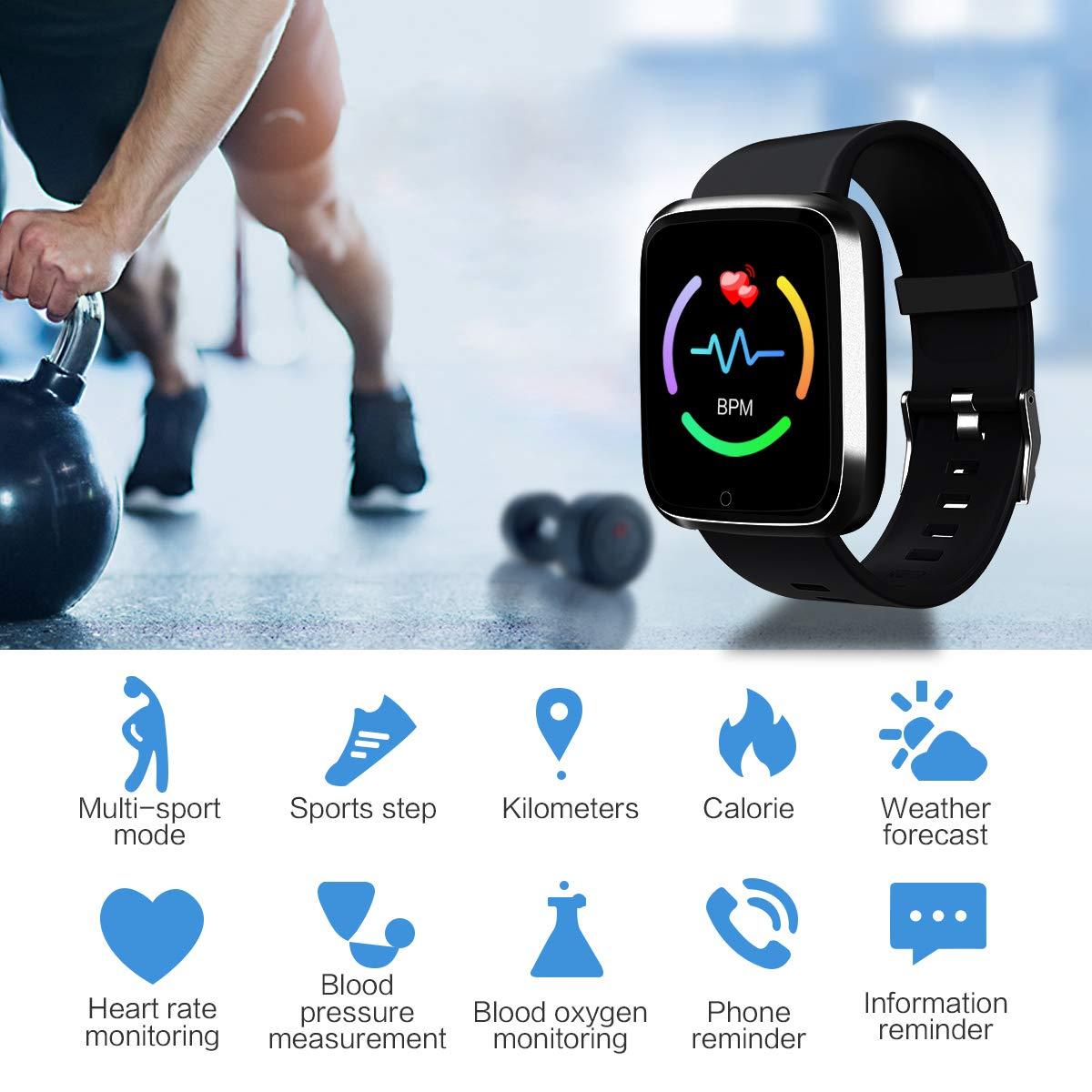 Amazon.com: Reloj inteligente, deportivo, rastreador de ...