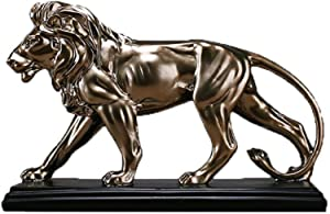 C-galry Lion African Ferocious Lion Sculpture Statue Silver Domineering Animal Lion Home Furnishings Decoration