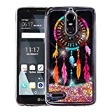 LG Stylo 3 / LG Stylo 3 Plus Case - Liquid Glitter Hybrid TPU Gel Bumper Cover Case - (Dreamcatcher) and Atom LED for LG Stylo 3 / LG Stylo 3 Plus