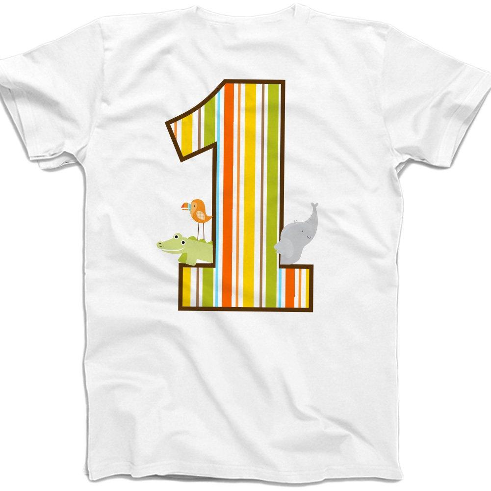 Zoeys Attic First Birthday Shirt Jungle Zoo Theme Boys First Birthday