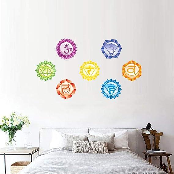 Mznm Chakras Wallpaper Stickers Mandala Yoga Om Meditación Símbolo ...