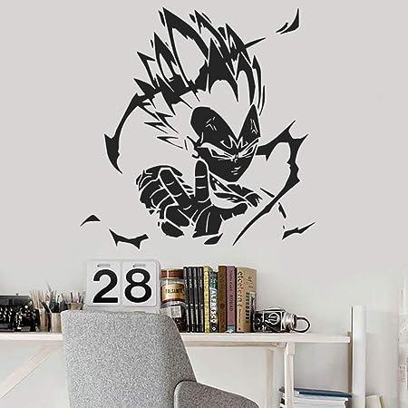 Vegeta Anime Vinilo Tatuajes de Pared Decoración del hogar Dragon ...