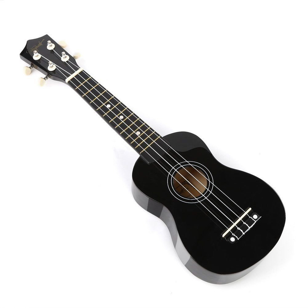 LianShi 21 Solid Wood Guitar Ukulele classic Uke Strumming Training For Adults and Kids 21, Mint Green