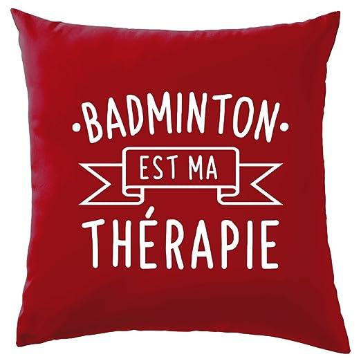 El Bádminton est ma terapia - Cojín - rojo: Amazon.es: Hogar