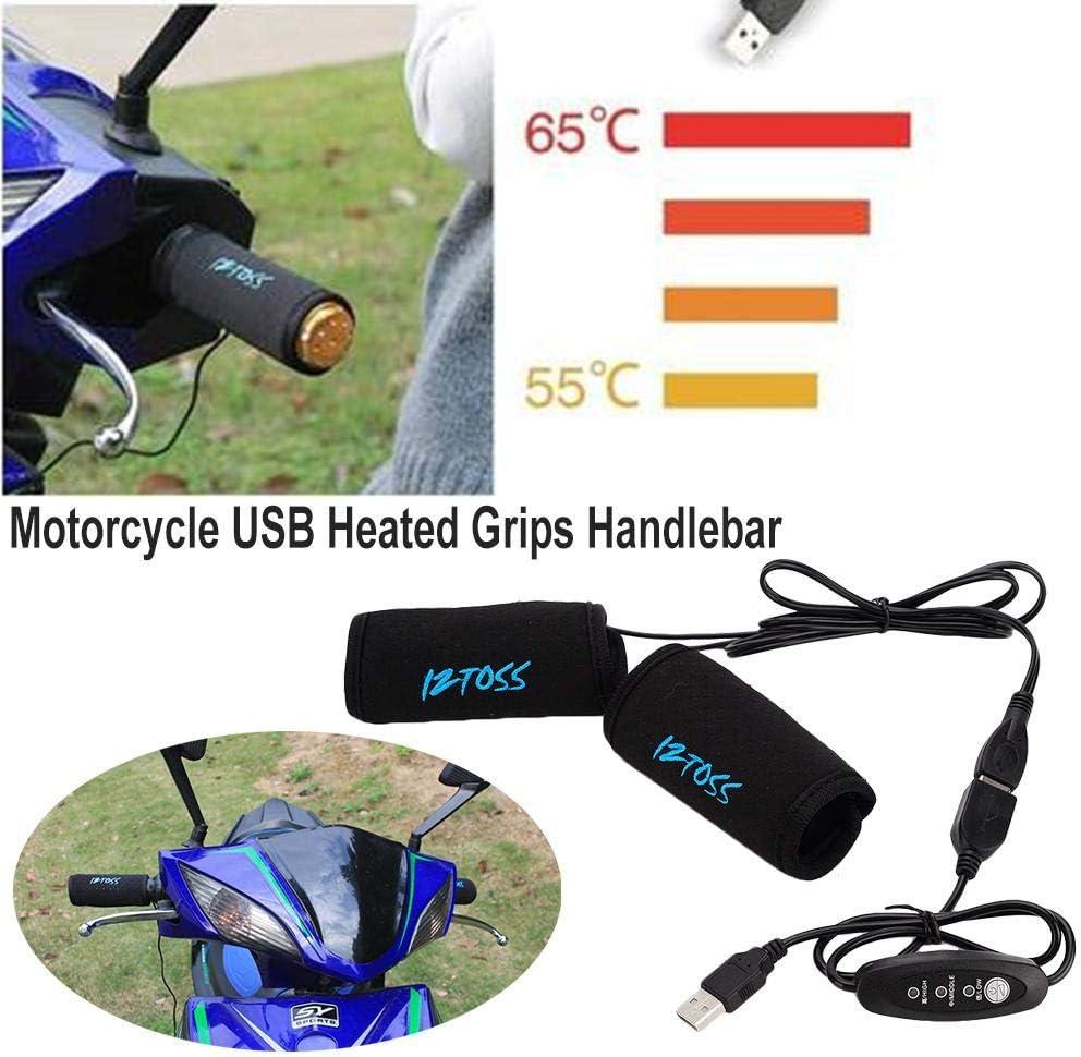 Manopole riscaldate elettriche del Manubrio di USB del motorino di ATV dello Scooter Maniche pi/ù Calde con linterruttore al Controllo Bloomma Manubrio riscaldato