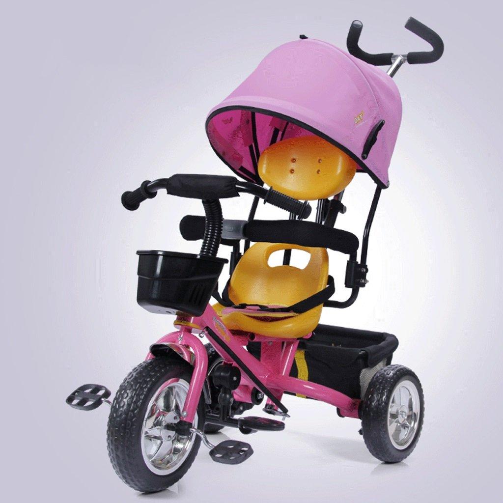 子供用三輪車自転車子供用カート1-5子供用自転車子供用カート、青、赤、ピンク、85 * 45 * 100cm ( Color : Pink )   B07C6MBLY6