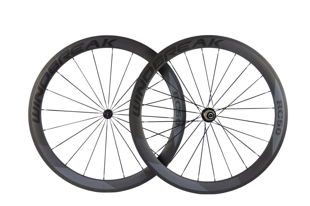 Sunrise Bike Carbon Road Wheels 700C 50mm Clincher Wheelset 3k Matte Finish with Decal by SunRise (Image #2)