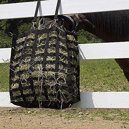 HHTC Hay Cuatro Lados del Bolso Bolsa de heno Lento de alimentación de Bolsas de Almacenamiento for alimentador del Caballo compite con el Equipo (Color : Negro)