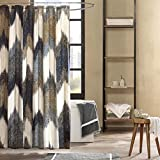 Designer Shower Curtains INK+IVY II70-541 Alpine Cotton Printed Shower Curtain 72x72