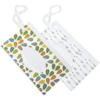 Joye Art-Au 2pcs Wet Wipe Dispensers, Reusable Travel Wipes Pouch, Refillable Wet Wipe Bag, Carrying Hold for Baby
