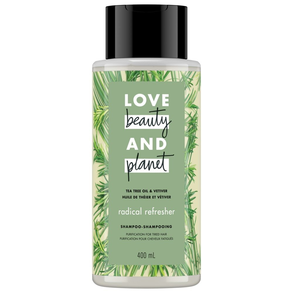 Love Beauty and Planet Tea Tree Oil & Vetiver Radical Refresher Shampoo, 400ml Unilever