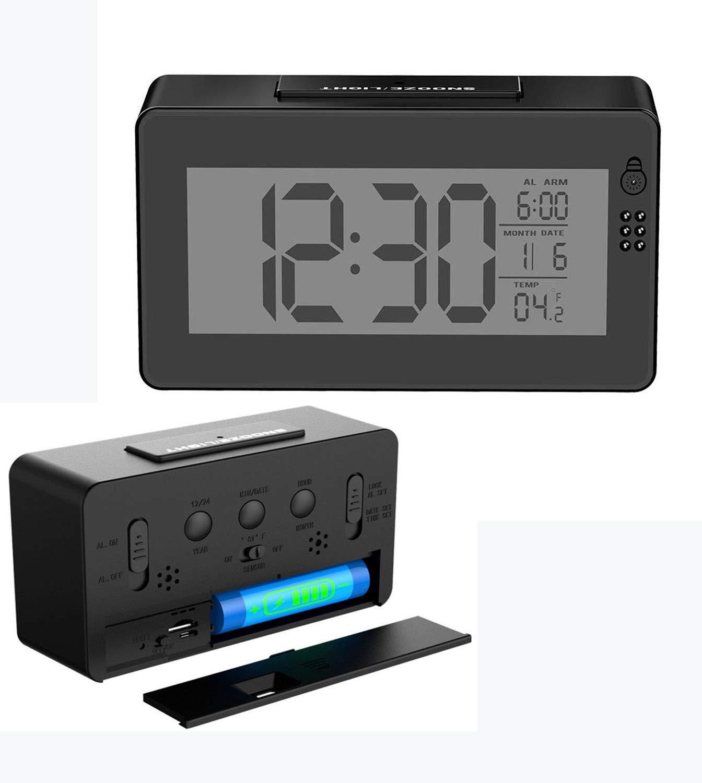 人気ショップ HD 1080 1080 Pおしゃれな目覚まし時計WIFI時計隠しビデオカメラ録画24時間昼夜監視ナイトビジョン機能セキュリティ監視カメラカレンダー時間と温度の表示 (1×32GB高速CLASS10メモリーカード付き) 1×32GB高速CLASS10メモリーカード付き HD B07RD9454Q, 塗料の専門店 ファインカラーズ:94ad7620 --- mfphoto.ie
