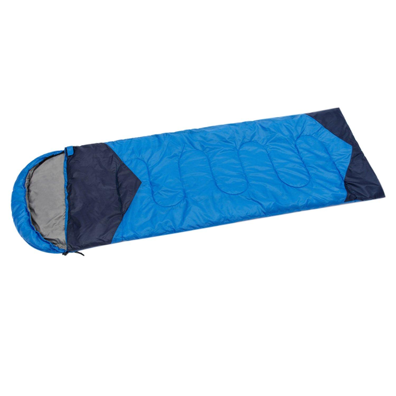 BPXアウトドアThick封筒軽量ポータブルPlaid Sleepingバッグ B078Y8KRD9  ブルー