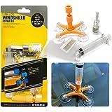 YOOHE Car Windshield Repair Kit - Windshield Repair Kit with Pressure Syringes for Fix Windshield Chips, Cracks, Bulls-Eye, S