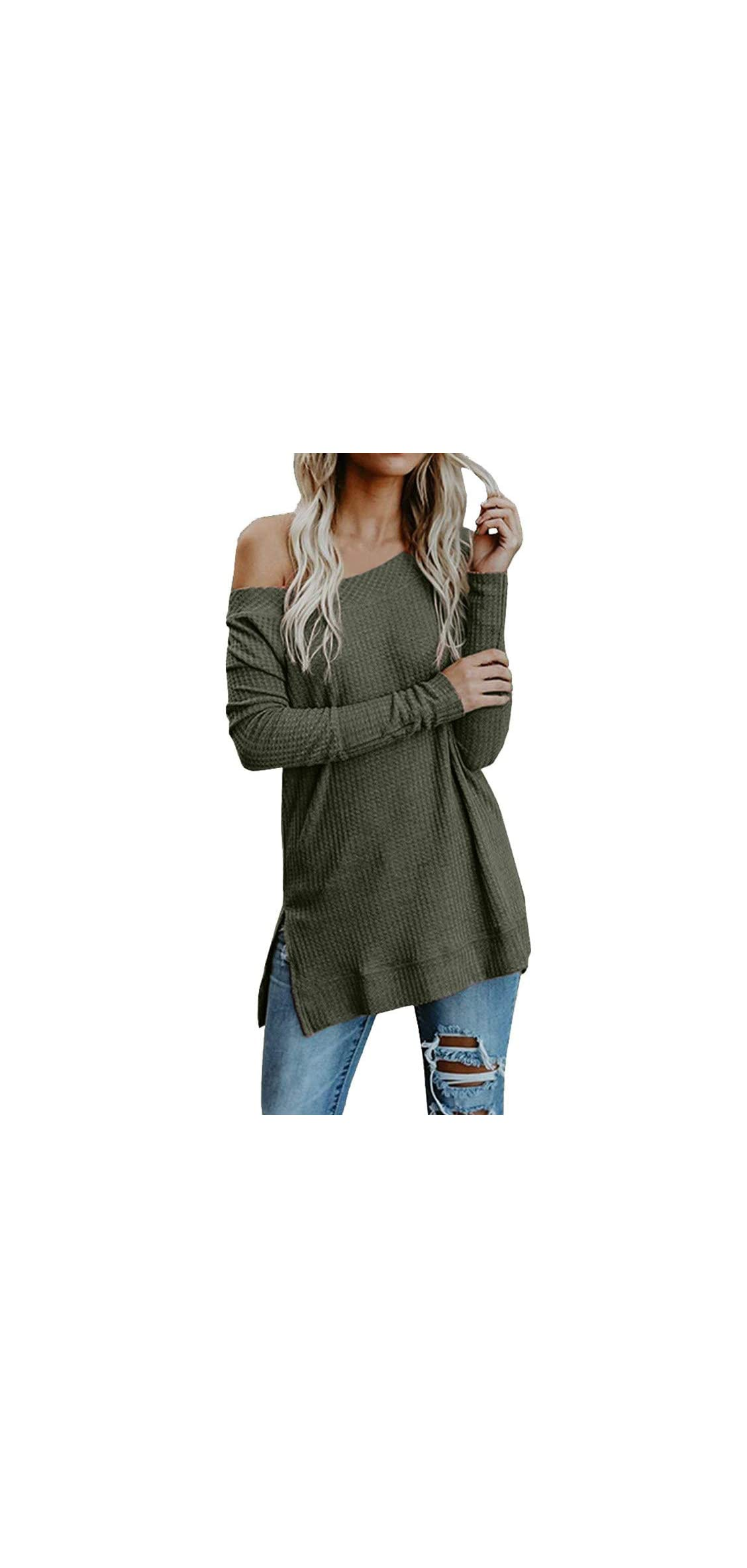 New Womens Sweaters Off The Shoulder Pullover Sweater